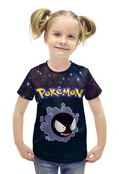 """Футболка с полной запечаткой для девочек """"PoKeMon Gastly"""" - pokemon, покемон, gastly, гастли"""