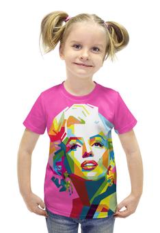 """Футболка с полной запечаткой для девочек """"Мерлин Монро"""" - арт, кино, мерлин монро, актриса, marilyn monroe"""