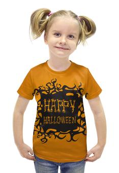 """Футболка с полной запечаткой для девочек """"HAPPY HALLOWEEN"""" - хэллоуин, halloween party"""
