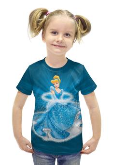 """Футболка с полной запечаткой для девочек """"Диснеевские принцессы"""" - дисней, рисунок, мультфильмы, принцесса, иллюстрация"""