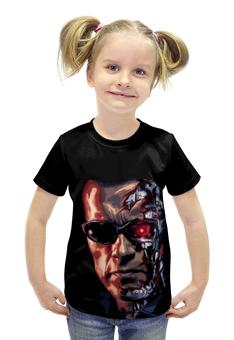 """Футболка с полной запечаткой для девочек """"Терминатор (Terminator)"""" - терминатор, арни, арнольд шварценеггер, шварц, the terminator"""