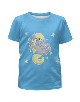 """Футболка с полной запечаткой для девочек """"My little pony (Derpy)"""" - мультфильм, мой маленький пони, my little pony, derpy, мультик"""