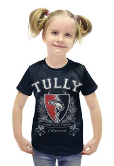 """Футболка с полной запечаткой для девочек """"Игра Престолов. Дом Талли"""" - игра престолов, game of thrones, дом талли, house tully, талли"""