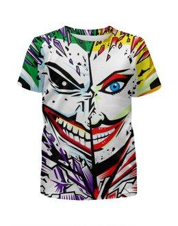 """Футболка с полной запечаткой для девочек """"The Joker & Harley Quinn"""" - джокер, харли квинн, dc комиксы, арт дизайн, суперзлодеи"""