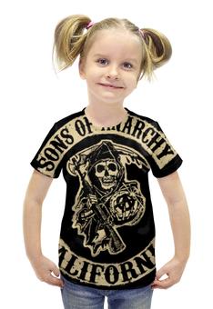 """Футболка с полной запечаткой для девочек """"Сыны анархии (Sons of Anarchy)"""" - sons of anarchy, сыны анархии, дети анархии"""