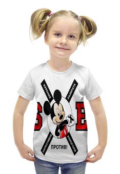 """Футболка с полной запечаткой для девочек """"sXe mouse"""" - здоровый образ жизни, зож, sxe"""