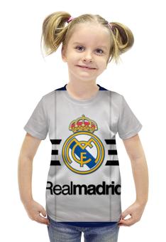 """Футболка с полной запечаткой для девочек """"Реал Мадрид"""" - real madrid, реал мадрид"""