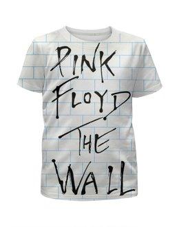 """Футболка с полной запечаткой для девочек """"Pink Floyd , пинк флойд , музыка """" - музыка, пинк флойд, pink floyd"""