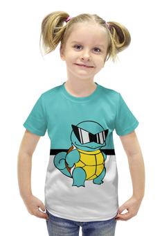 "Футболка с полной запечаткой для девочек ""PoKeMon Squirtle"" - pokemon, покемон, сквиртл, squirtle"