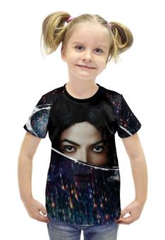"""Футболка с полной запечаткой для девочек """"Майкл Джексон (Michael Jackson)"""" - майкл джексон, michael jackson"""