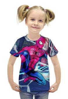 """Футболка с полной запечаткой для девочек """"Человек Паук"""" - spider man, питер паркер"""