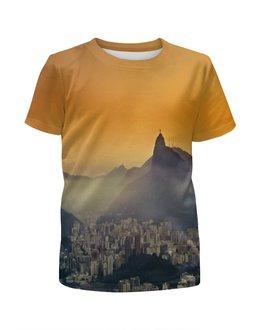 """Футболка с полной запечаткой для девочек """"Рио-де-Жанейро"""" - мир, страны, рио, города, city"""