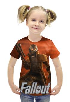 """Футболка с полной запечаткой для девочек """"Fallout """" - games, игра, game, fallout, фаллоут"""