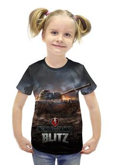 """Футболка с полной запечаткой для девочек """"Мир Танков"""" - война, world of tanks, мир танков, wot, blitz"""