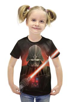 """Футболка с полной запечаткой для девочек """"Star Wars Darth Vader"""" - космос, фантастика, звездные войны, экшн, дарт вэйдер"""