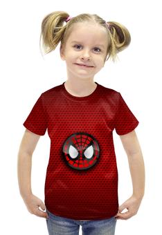 """Футболка с полной запечаткой для девочек """"Человек-паук"""" - spider-man, человек-паук, питер паркер"""