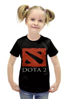 """Футболка с полной запечаткой для девочек """"Dota2"""" - игры, game, спорт, dota2, дота2"""