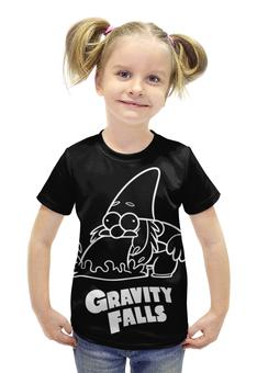 """Футболка с полной запечаткой для девочек """"Гном Стив"""" - gravity falls, гном, стив, гравити фолз"""