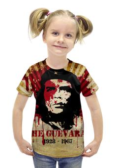 """Футболка с полной запечаткой для девочек """"Эрнесто Че Гевара"""" - революция, рисунок, че гевара"""