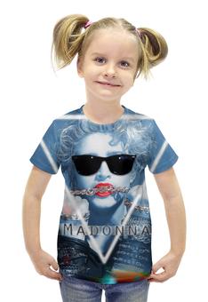 """Футболка с полной запечаткой для девочек """"Мадонна (Madonna)"""" - madonna, мадонна"""