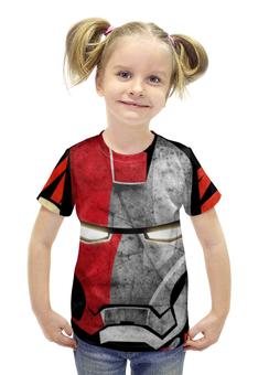 """Футболка с полной запечаткой для девочек """"Ironman"""" - железный человек, ironman"""
