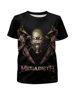 """Футболка с полной запечаткой для девочек """"Megadeth Band"""" - skull, череп, рок музыка, thrash metal, megadeth"""
