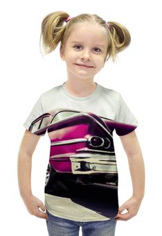 """Футболка с полной запечаткой для девочек """"Машина (Шевроле)"""" - авто, машина, 3d, chevrolet, шевроле"""