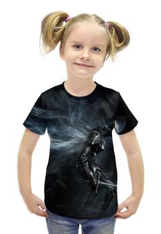 """Футболка с полной запечаткой для девочек """"Dark Souls 3"""" - фэнтези, фанату, dark souls, мир игр, рисунок из игр"""