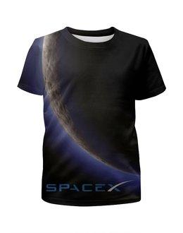 """Футболка с полной запечаткой для девочек """"SpaceX. Dragon"""" - космос, вселенная, thespaceway, spacex, маск"""