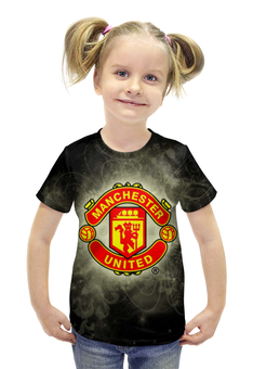 """Футболка с полной запечаткой для девочек """"Манчестер Юнайтед (МЮ)"""" - манчестер юнайтед, мю"""