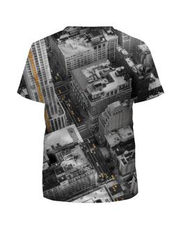 """Футболка с полной запечаткой для девочек """"Город 3D"""" - new york, америка, город, 3d, сша"""