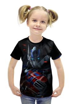 """Футболка с полной запечаткой для девочек """"Оптимус Прайм / Optimus Prime"""" - рисунок, трансформеры, автоботы"""