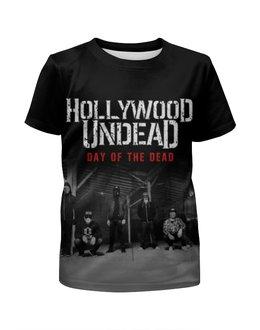 """Футболка с полной запечаткой для девочек """"Hollywood Undead - Day Of The Dead"""" - hollywood undead"""
