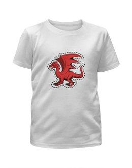 """Футболка с полной запечаткой для девочек """"дракон"""" - крылья, животные, дракон, dragon, динозавр"""