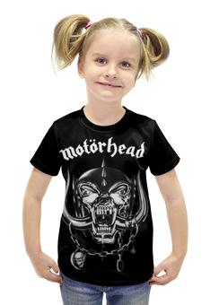 """Футболка с полной запечаткой для девочек """"Motorhead (Motörhead)"""" - motorhead, motörhead"""