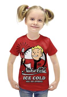 """Футболка с полной запечаткой для девочек """"Fallout"""" - fallout, vault boy, фаллаут, nuka cola, нука кола"""