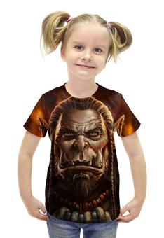 """Футболка с полной запечаткой для девочек """"World of Warcraft"""" - рисунок, wow, орк"""