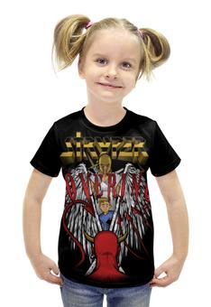 """Футболка с полной запечаткой для девочек """"Stryper band"""" - heavy metal, хеви метал, stryper, христианский метал, christian metal"""