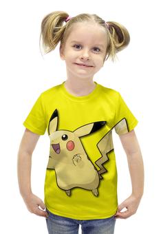"""Футболка с полной запечаткой для девочек """"Пикачу"""" - нинтендо, nintendo, pikachu, pokemon go, покемон го"""
