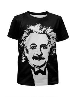 """Футболка с полной запечаткой для девочек """"Эйнштейн"""" - наука, физика, эйнштейн, альберт эйнштейн"""