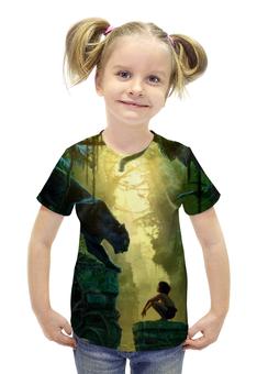 """Футболка с полной запечаткой для девочек """"книга джунглей (маугли)"""" - маугли, книга джунглей, mowgli"""