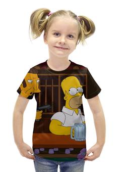 """Футболка с полной запечаткой для девочек """"Симпсоны"""" - гомер, симпсоны, the simpsons, барт"""