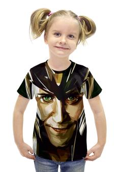 """Футболка с полной запечаткой для девочек """"Локи (Loki)"""" - marvel, loki, локи, тор, доктор стрэндж"""