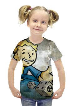 """Футболка с полной запечаткой для девочек """"Vaultboy Fallout"""" - fallout, vaultboy, vault, falloutboy"""