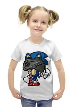 """Футболка с полной запечаткой для девочек """"Соник ( Sonic ) """" - соник, sonic, steam"""