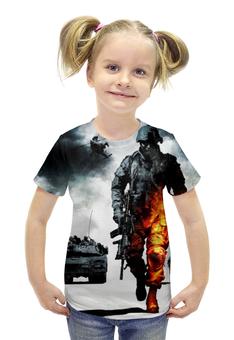 """Футболка с полной запечаткой для девочек """"Battlefield"""" - игры, battlefield, геймерские, баттлфилд"""