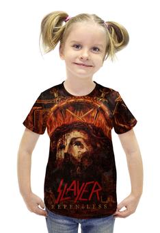 """Футболка с полной запечаткой для девочек """"Slayer Repentless 2015 (1)"""" - музыка, рок, металл, slayer, thrash metal"""