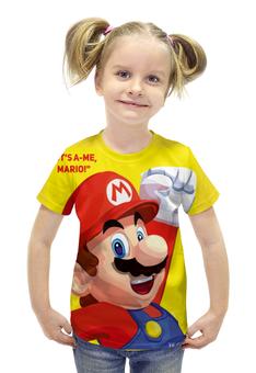 """Футболка с полной запечаткой для девочек """"Марио"""" - игра, nintendo, mario, dendy, марио"""