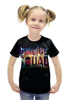 """Футболка с полной запечаткой для девочек """"Suicide Squad """" - отряд самоубийств"""