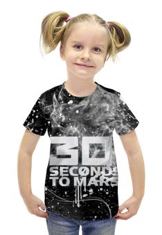 """Футболка с полной запечаткой для девочек """"30 Seconds to Mars"""" - 30 seconds to mars, rock, джаред лето"""